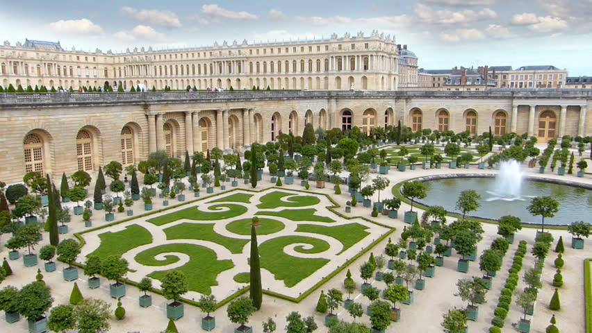 The Palace Of Versailles And Garden France Hd Stock Footage Clip