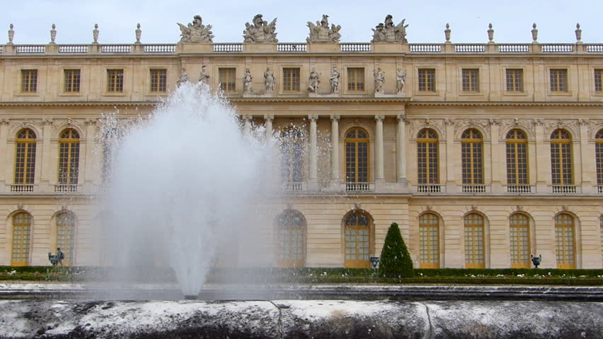 The Palace of Versailles and Fountain, France | Shutterstock HD Video #8309968