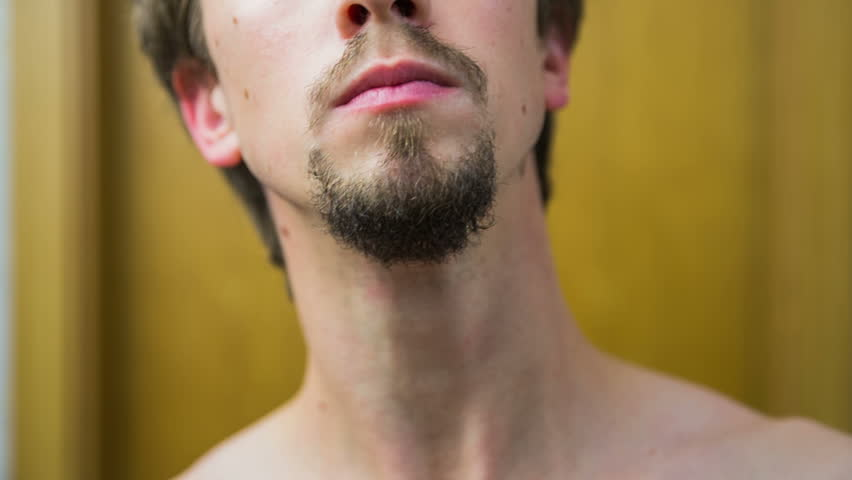 trimming beard around the mouth stock footage video 8236534 shutterstock. Black Bedroom Furniture Sets. Home Design Ideas
