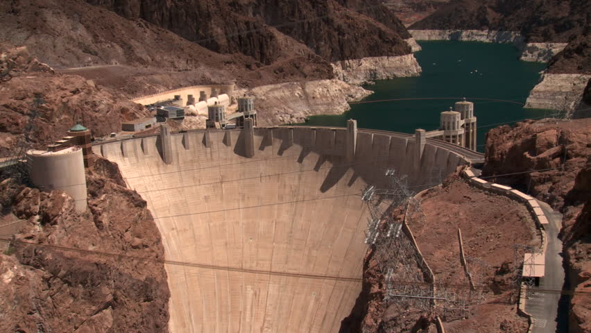 Boulder Dam  Hoover Dam - HD stock video clip