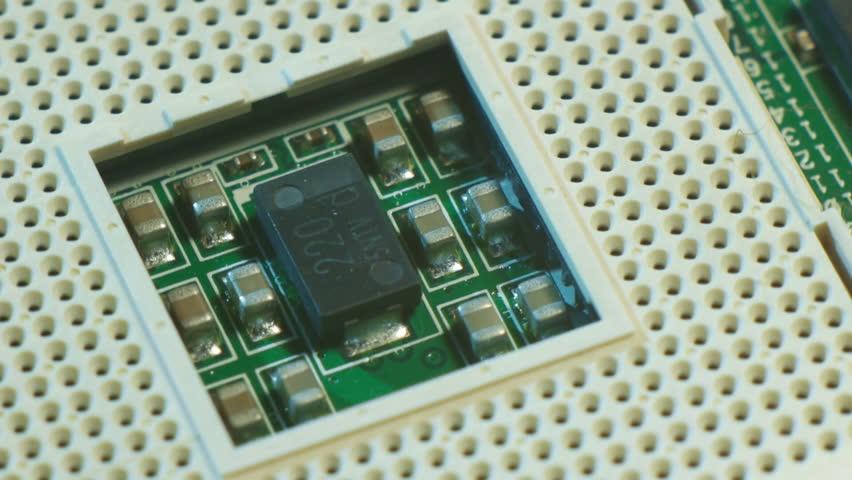 Electronics CPU - HD stock footage clip