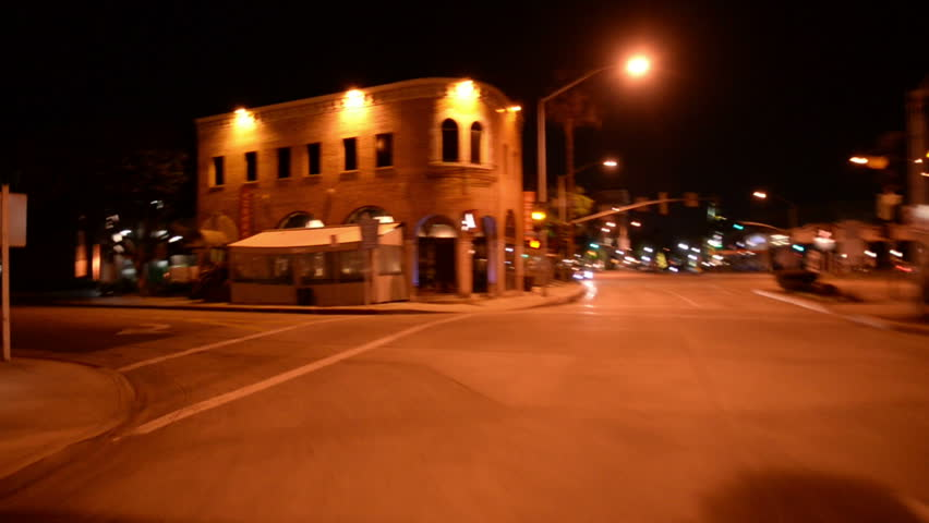 Driving Plates Night S06C06 CAM2 Back View 01 Downtown | Shutterstock HD Video #8413018