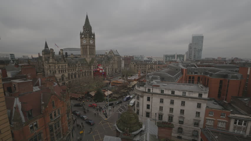 Timelapse - Manchester Albert Square Xmas