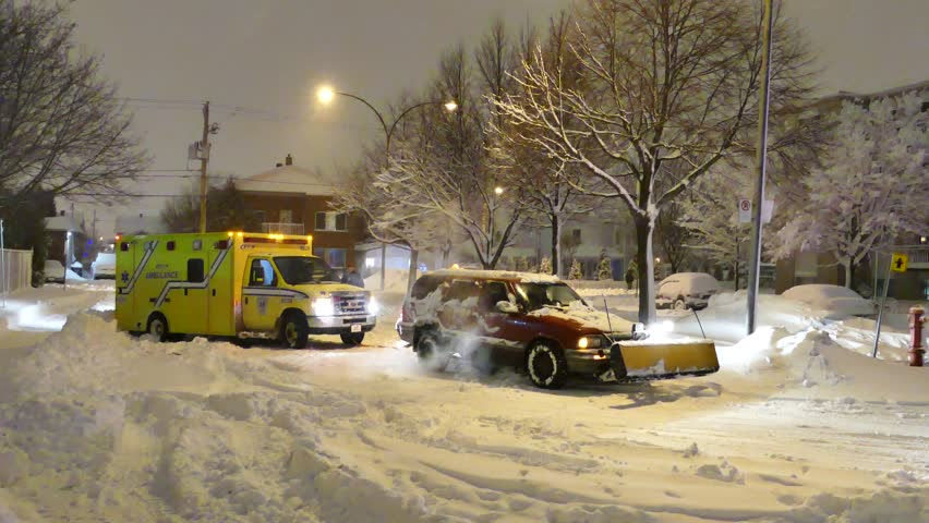 video of ambulance in snow 1080p