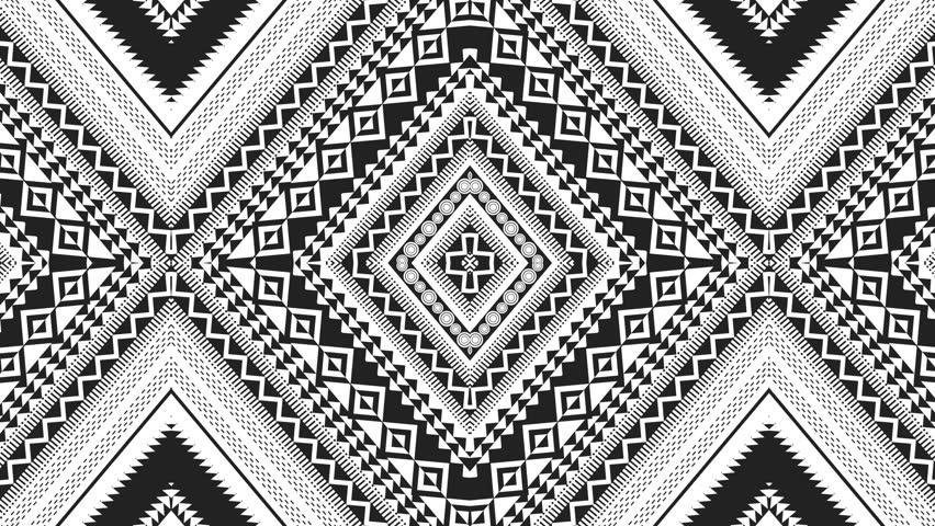 Hypnotic Rhythmic Movement Of Geometric Black,red And ...