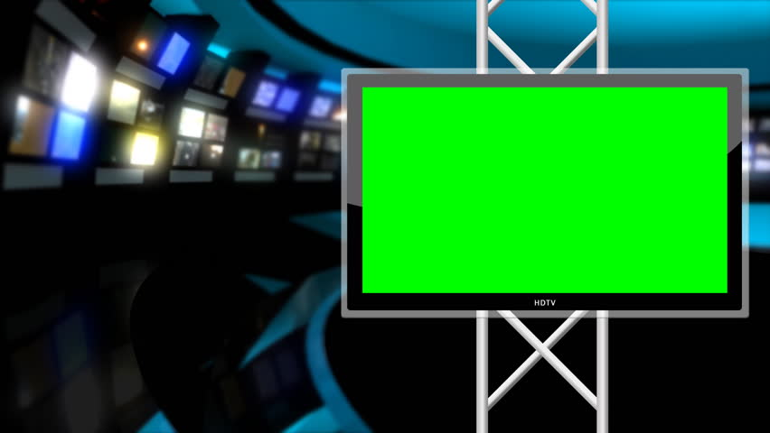 Modern, clean news / virtual news studio background.  This background is designed to be used as a green screen background.  | Shutterstock HD Video #852460