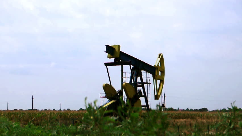 Rusty oil pump in action - HD stock footage clip