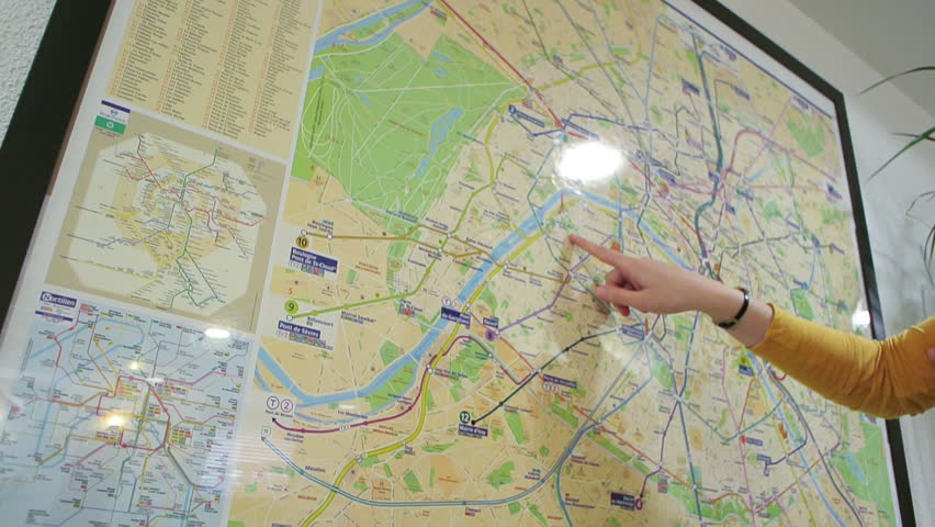 Medium Shot Young Women Studying Map Paris France Footage – Tourist Map of Paris France