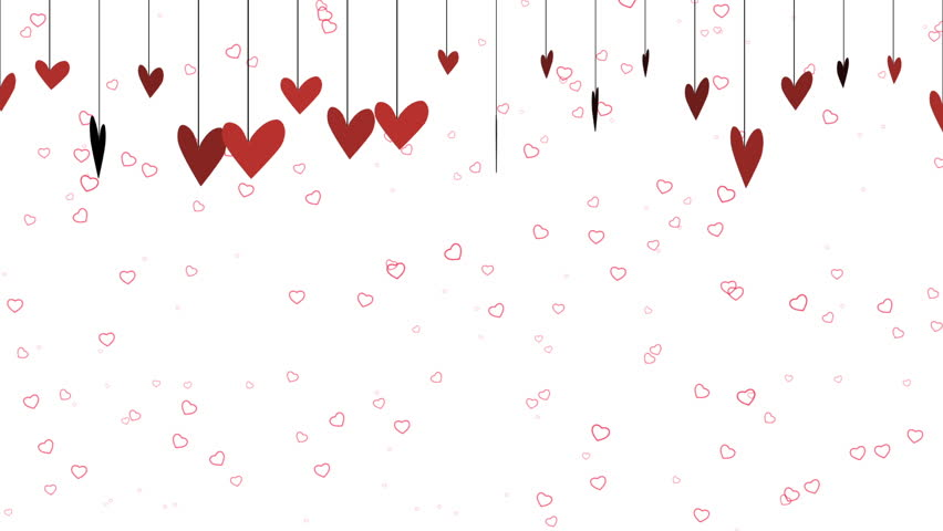 A fun cartoonish valentines background video with dangling red hearts across the top and a - Background for valentine pictures ...