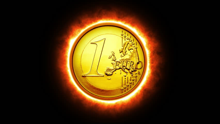 Burning Euro, Animation - HD stock video clip