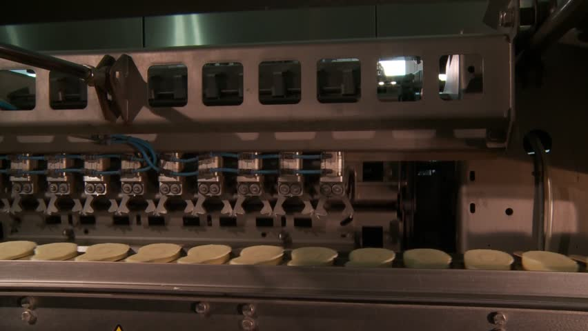 Industrial production in the popsicle shop - HD stock footage clip