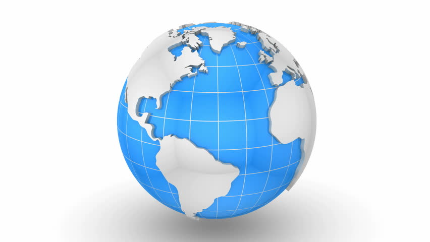 A Turning Blue 3D Globe Stock Footage Video 604471 ...