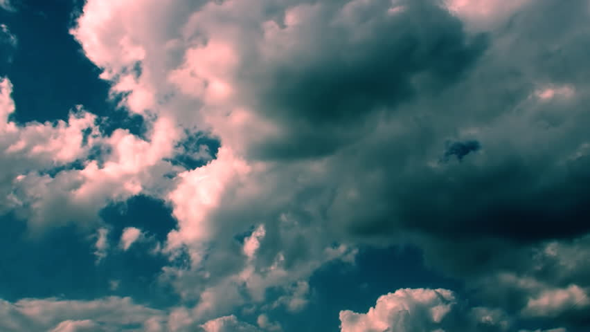 Cinematic dramatic time lapse epic video of a Stormy Clouds in blue rose color. You can use this video in cinematic credits, movie background, in your original projects or as a websites background. - HD stock footage clip