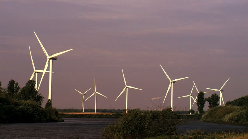 Wind power & energy - HD stock footage clip