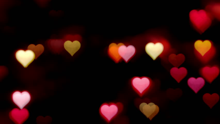 Bokeh Heart Shape Of Light Background Stock Footage Video