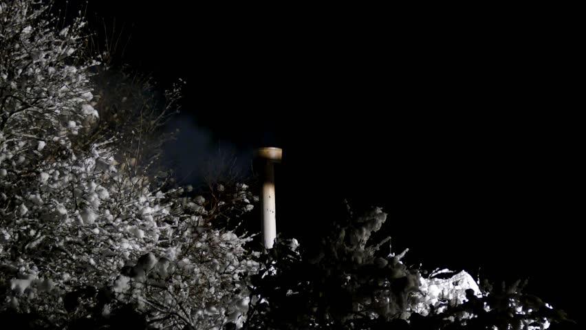 Smoking pipe countryside - 4K stock footage clip