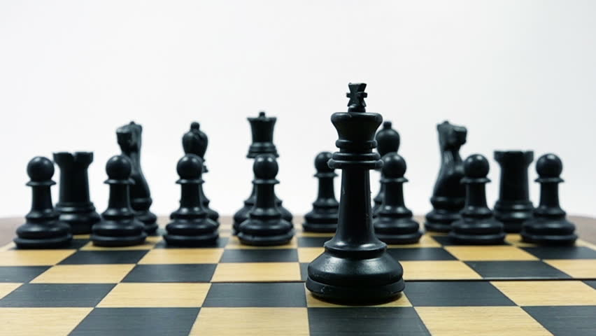 Chess Game. Checkmate in Slow Motion. HD Video Clip