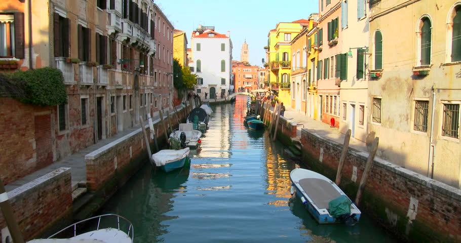 Boating on the lagoon in Venice, shot by 4K Sony Z100 | Shutterstock HD Video #8893609