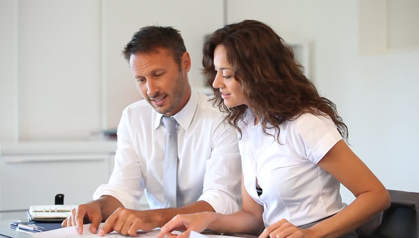 Business team working in the office - HD stock footage clip