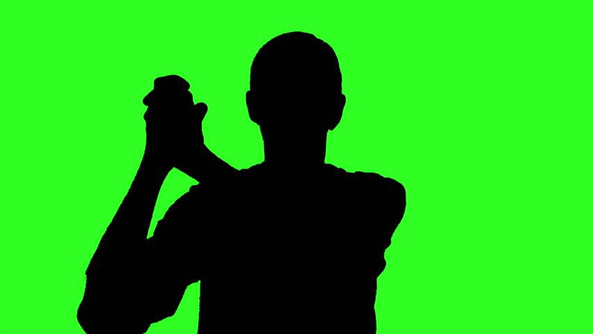 Woman Dj Silhouette - Green Stock Footage Video 535285 ...
