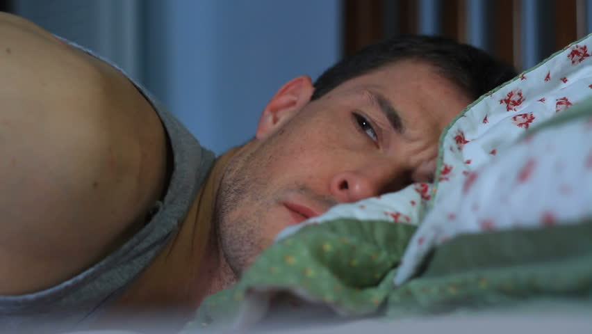 Full HD Stock video of sleepless man suffering from insomnia. - HD stock footage clip