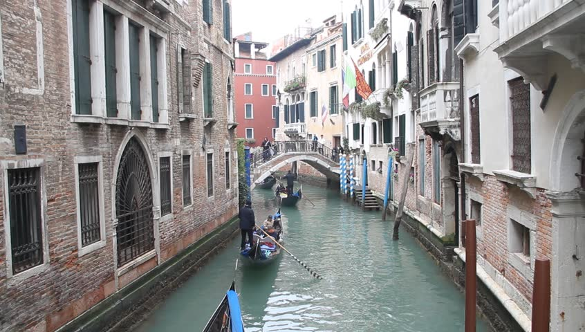 VENICE-ITALY FEBRUARY 14:canal during Carnival in Venice on February 14,2015.Carnival visits more than 15 million tourists this year | Shutterstock HD Video #8922832