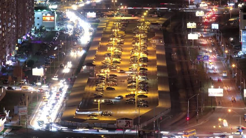 time lapse night city