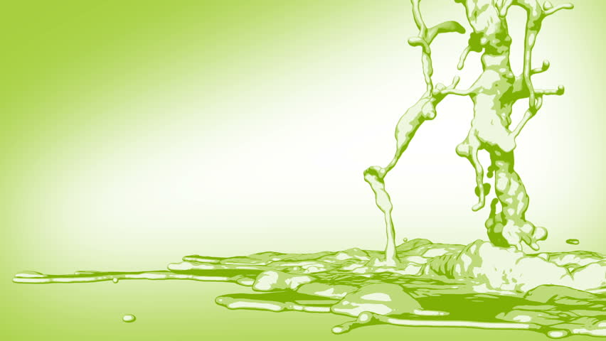 Stylized Green Poison liquid - HD stock footage clip