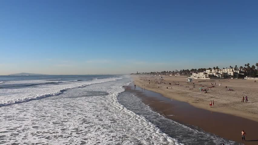 Wide Angle of Coastline with Beautiful Beach | Shutterstock HD Video #8945809