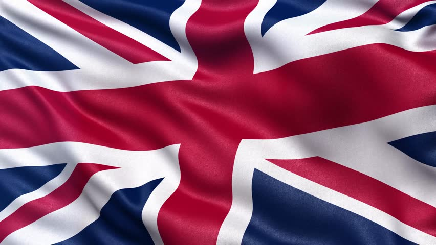 british uk flag  seamless looping animation  4k high definition video stock footage video