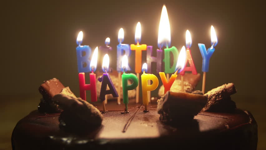 Animated Birthday Cake With Candles