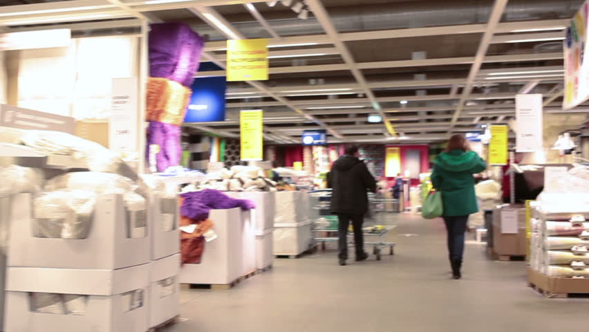 2015 the ikea marketplace with stands and customers timelapse ikea