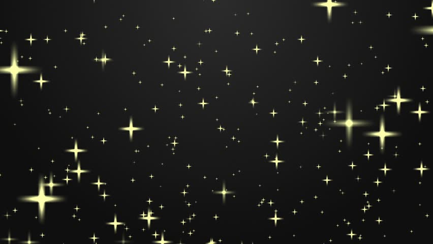 Star Bright Motion Background, Bright Golden Star Like Spheres Glowing