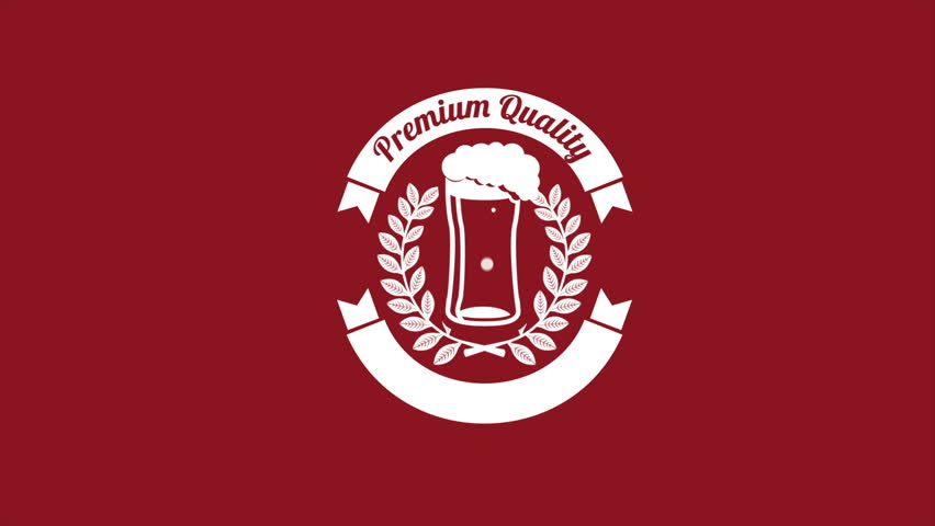 Premium Quality beer, Video animation, HD 1080