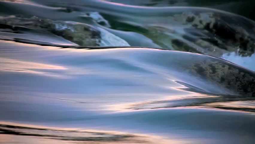 flowing Water and wave time laps looping color SLOW MOTION