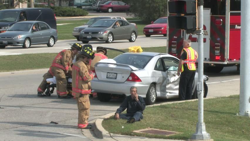 Accident Scene 1 - HD stock footage clip