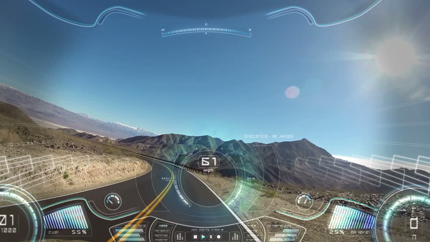 car driving pov apps display motion graphics GPS technology game road satellite