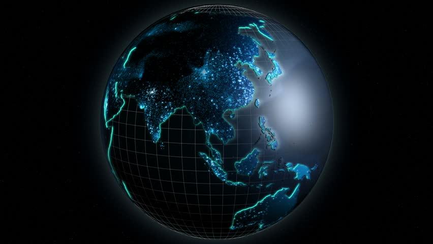 3D Business Globe Motion Graphics Internet Network