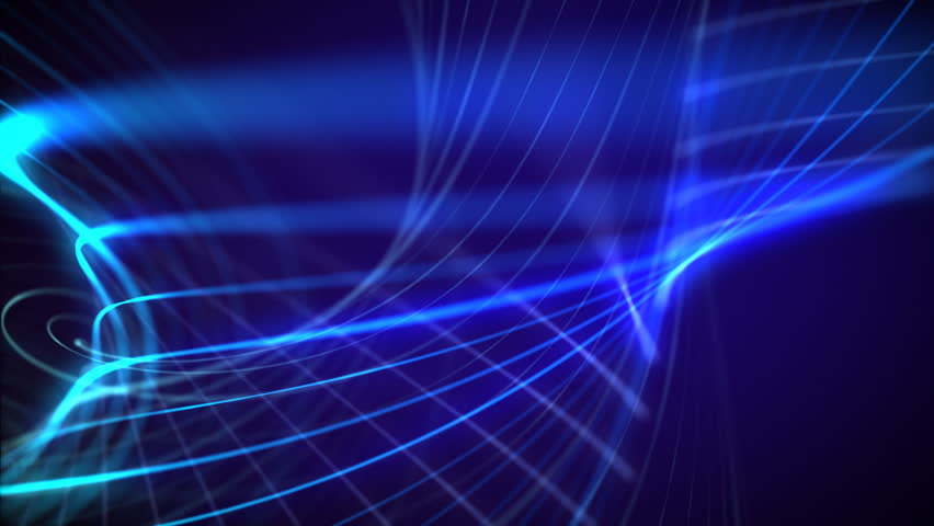 Blue Neon Laser Lights Animated Seamless Motion Graphics Footage For Music Videos, Night Clubs ...
