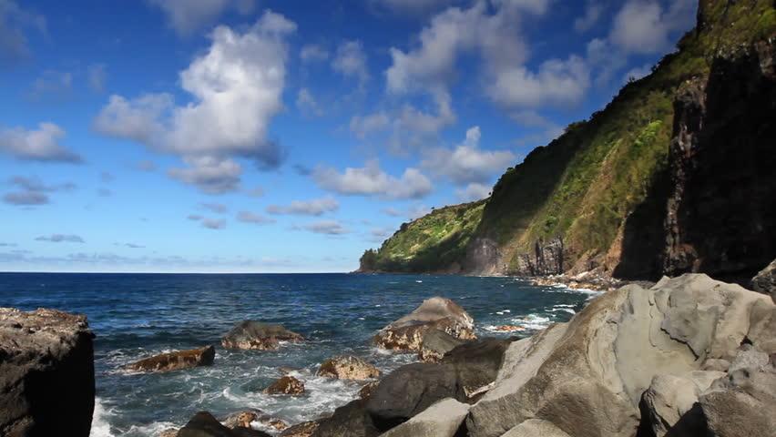 Rocky Hawaiian Shore - HD stock video clip