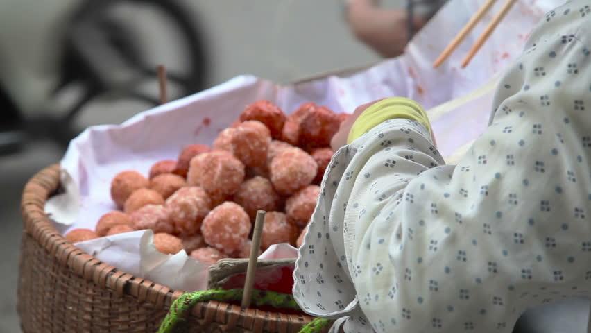 Fasfood on the street in Hanoi