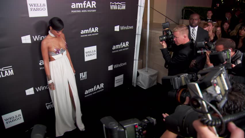 Los Angeles, CA - October 29,2014: Rihanna at amfAR Los Angeles Inspiration Gala 2014, Milk Studios