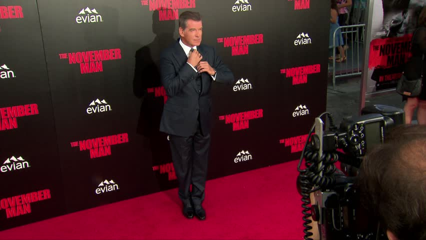 Hollywood, CA - August 13,2014: Pierce Brosnan at The November Man Premiere, TCL Chinese Theatre
