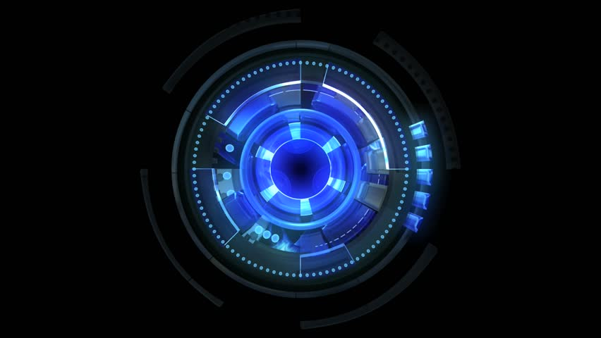 Looped blue rotating elements. Camera pushes and then out. Loopable. | Shutterstock HD Video #981592