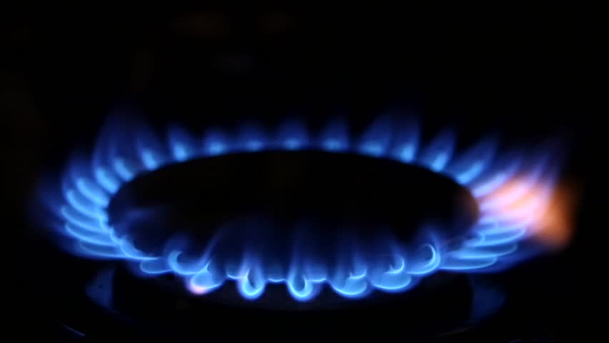Blue Natural Gas Flames. Slow Motion - HD stock video clip
