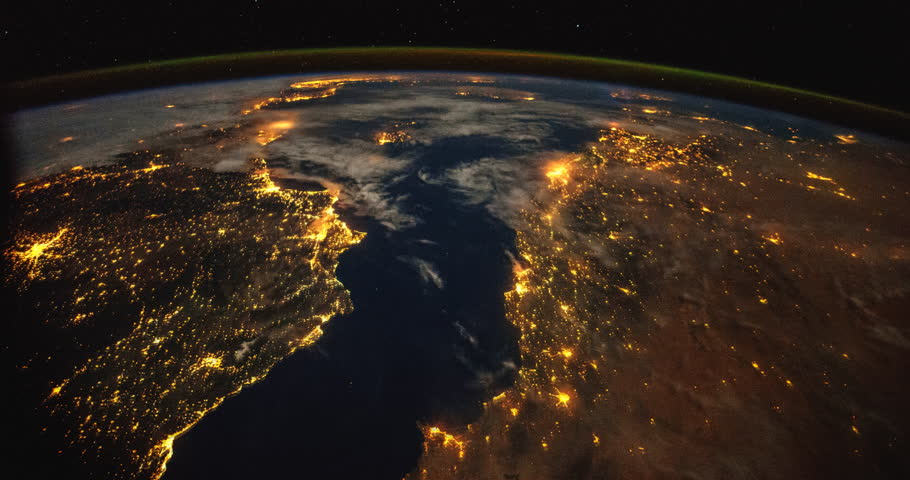 Over the Mediterranean and Europe: Planet Earth our mother home seen from space or the International Space Station ISS. Elements of this images furnished by NASA on April 24,2015