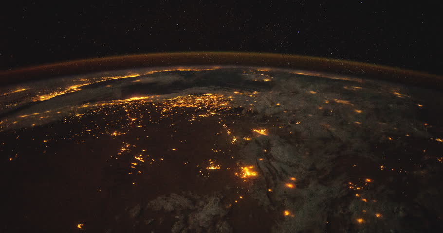 City Lights of Europe at night: Planet Earth our mother home seen from space or the International Space Station ISS. Elements of this images furnished by NASA on April 24,2015