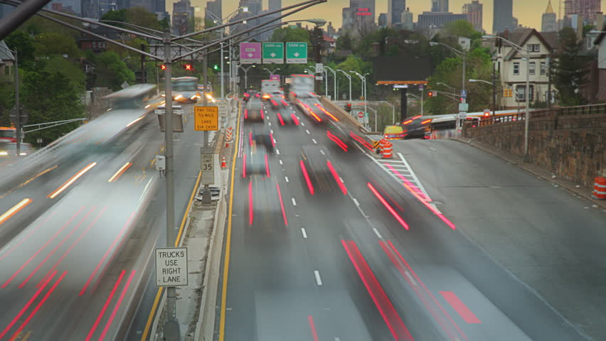 Early Morning Rush Hour Time Lapse Video Of Heavy Traffic