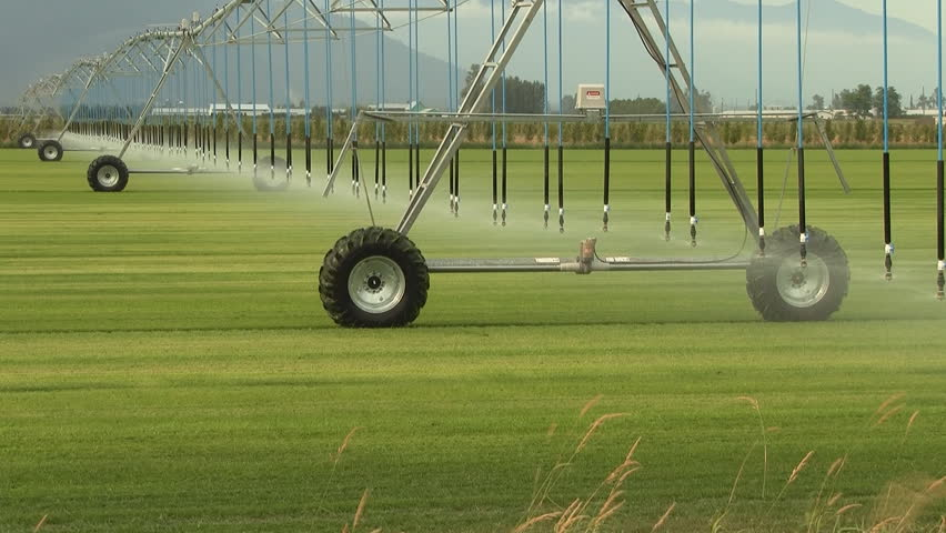 Agricultural Irrigation Parts : Farm irrigation system time lapse stock footage video